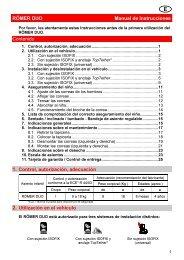 RÖMER DUO Manual de Instrucciones Contenido 1. Control ... - Racc