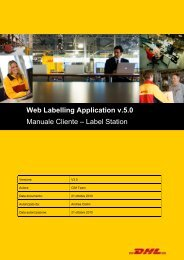 Web Labelling Application v.5.0 Manuale Cliente – Label Station ...