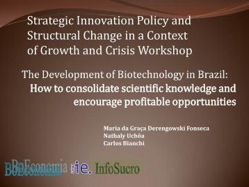 Strategic Innovation Policy and Structural Change in a ... - RedeSist