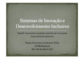 Paulo Cavalcanti (Redesist/UFPB)
