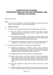 constitution of the british association for parenteral and ... - BAPEN