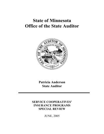 Service Cooperatives' Insurance Programs Special Review - June ...