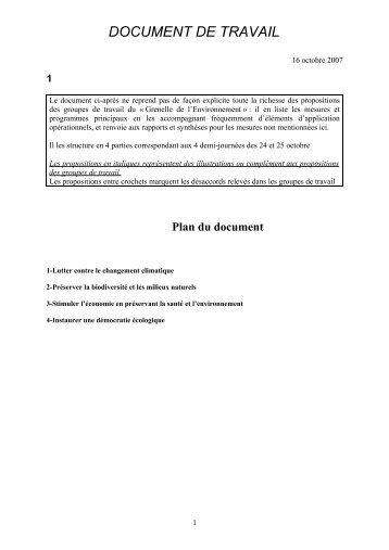 document de travail - Le Monde