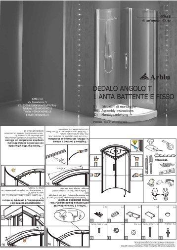 DEDALO ANGOLO T 1 ANTA BATTENTE E FISSO - Sanikoop