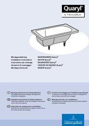 Montageanleitung BADEWANNEN Quaryl Installation instructions ...