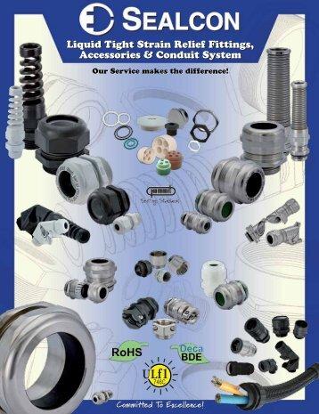 Sealcon Liquid Tight Strain Relief Fittings, Accessories, and Conduit ...