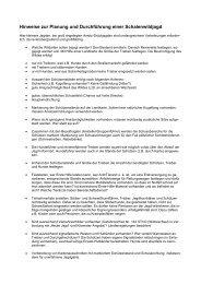Hinweise zur Planung und Durchführung einer Schalenwildjagd