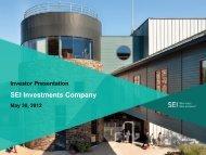Investor Presentation - SEI