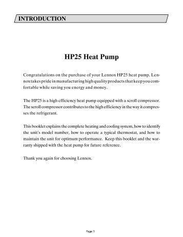 HP Heat Pump - Lennox