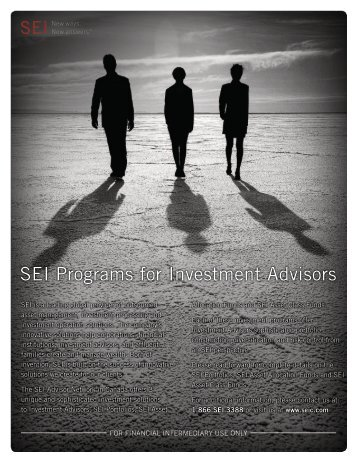 SEI Programs for Investment Advisors