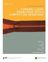 turning client knowledge into a competitive advantage - SEI