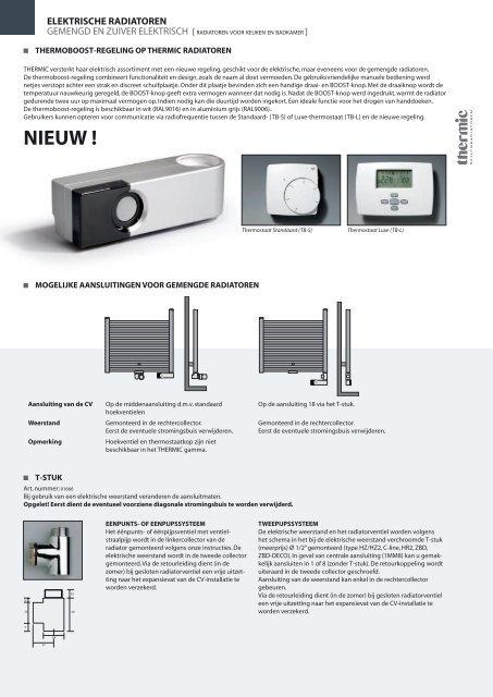 Thermic Elektrische Radiator.Elektrische Radiatoren Thermic