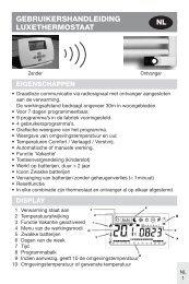 Manual del usuario termostato de lujo - Vasco