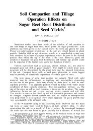 Soil Compaction and Tillage Operation Effects on Sugar Beet Root ...