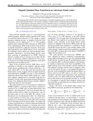 Magnetic Quantum Phase Transition in an Anisotropic Kondo Lattice