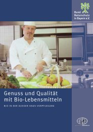 Genuss und Qualität mit Bio-Lebensmitteln - Agenda 21 in München
