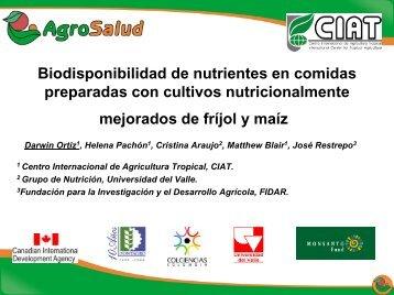 Biodisponibilidad de nutrientes en comidas preparadas ... - AgroSalud