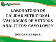 LABORATORIO DE CALIDAD NUTRICIONAL ... - AgroSalud