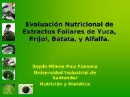 Evaluación Nutricional de Extractos Foliares de Yuca ... - AgroSalud