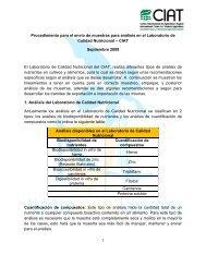 Procedimiento para el envío de muestras para análisis ... - AgroSalud