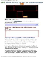 Noticias Nariño Colombia 29 Ago 2007 por Artur Coral ... - AgroSalud