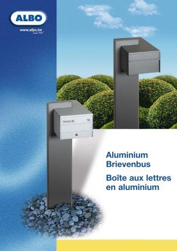 Aluminium Brievenbus Boîte aux lettres en aluminium - Albo