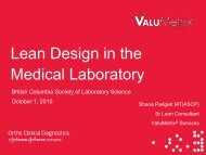 Lean Design in the Medical Laboratory - the British Columbia ...