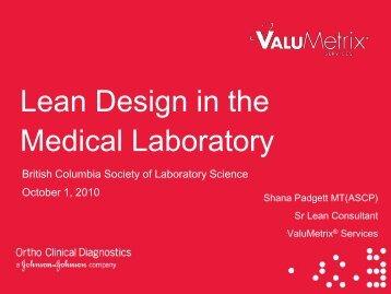 Lean Design in the Medical Laboratory - the British Columbia ...