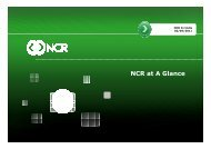 NCR at A Glance - Enkay Technologies (India)