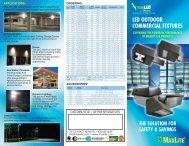 LED OUTDOOR COMMERCIAL FIXTURES - MaxLite