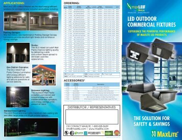LED OUTDOOR COMMERCIAL FIXTURES - MaxLite