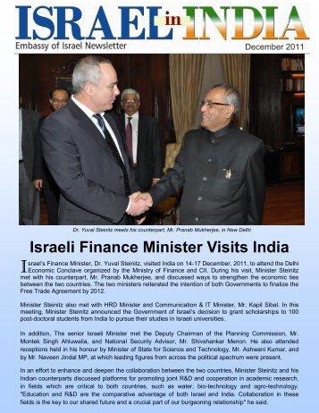 Israeli Finance Minister Visits India