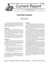 Foot Rot Control - OSU Fact Sheets - Oklahoma State University