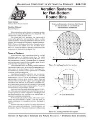 BAE-1102 Aeration Systems for Flat-Bottom Round Bins - OSU Fact ...