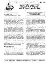 Marketing Efficiency and Efficient Marketing - OSU Fact Sheets ...