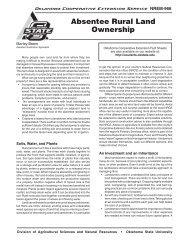 Absentee Rural Land Ownership - OSU Fact Sheets - Oklahoma ...