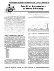 Practical Approaches to Wood Finishing - OSU Fact Sheets ...