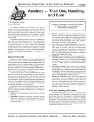 Their Use, Handling, and Care - OSU Fact Sheets - Oklahoma State ...
