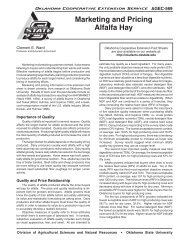 Marketing and Pricing Alfalfa Hay - OSU Fact Sheets - Oklahoma ...