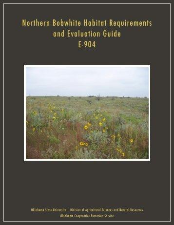 E-904 Bobwhite Quail Habitat Evaluation and Management Guide