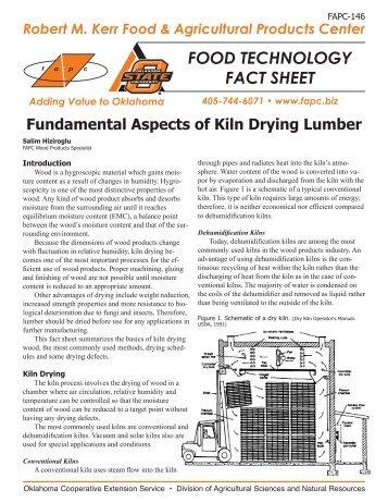 fapc 146 fundamental aspects of kiln drying lumber osu fact