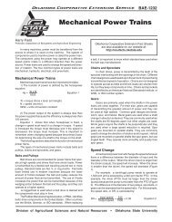 BAE-1232 Mechanical Power Trains - OSU Fact Sheets - Oklahoma ...