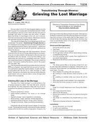 Grieving the Lost Marriage - OSU Fact Sheets - Oklahoma State ...