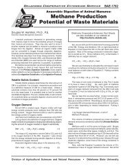 Methane Production Potential of Waste Materials - OSU Fact Sheets ...