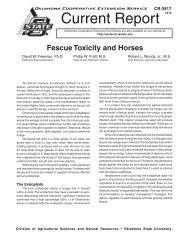 Fescue Toxicity and Horses - OSU Fact Sheets - Oklahoma State ...