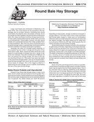 Round Bale Hay Storage - OSU Fact Sheets - Oklahoma State ...
