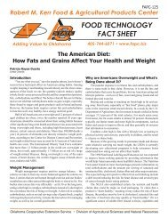 How Fats and Grains Affect Your Health and Weight - OSU Fact ...