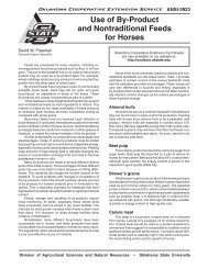 Use of By‑Product and Nontraditional Feeds for Horses - OSU Fact ...