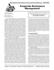 Fungicide Resistance Management - OSU Fact Sheets - Oklahoma ...