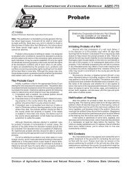 AGEC-773 Probate - OSU Fact Sheets - Oklahoma State University